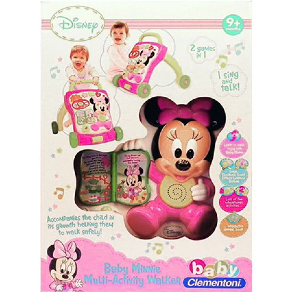 Clementoni Baby Minnie Mouse Multi Activity Walker