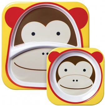 Zoo Tabletop Melamine Set - Monkey